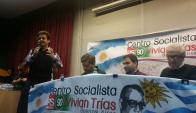 Socialistas: Gonzalo Civila junte a Axel Kicillof en Buenos Aires. Foto: @gonzacivila