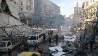 Alepo, zona este destruída. Foto: AFP