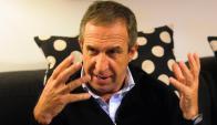 Descanso. Gerardo Pelusso se tomó un tiempo para aflojar tensiones y trabajo. Foto: Archivo El País.