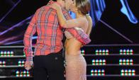"""Federico Hoppe y Laurita Fernández se besaron en """"Bailando"""". Foto: Ideas del Sur"""
