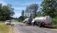 OSE trabaja para restablecer el agua potable en Maldonado. Foto: Ricardo Figueredo