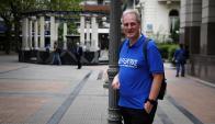 Michael Bates estuvo en Montevideo el viernes. Foto: Fernando Ponzetto.