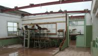 Además de los daños estructurales, las lluvias están afectando el mobiliario. Foto: D. Rojas