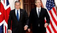George W. Bush y Tony Blair en 2005. Foto: Reuters.