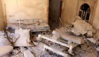 Escombros de un hospital que fue bombardeado en Alepo. Foto: Reuters.