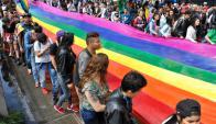 Marcha del orgullo gay en Colombia. Foto: AFP.