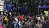 A pesar de los días feos, prácticamente 400 mil personas concurrieron. Foto: Ariel Colmegna