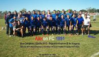Plantel del Albion campeón de la Liguilla 2015 de la Segunda División B