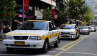 Taxistas protestaron por un nuevo hecho de violencia. Foto: M. Bonjour