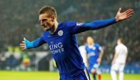 Jamie Vardy abrió el marcador para el Leicester. Foto: Reuters.