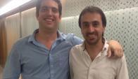 Responsables. Andrés Levin e Ignacio Valle son los emprendedores detrás del negocio. Foto: Gentileza Qoollet.