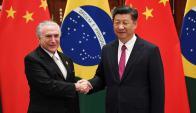 Temer con el presidente de China, Xi Jinping. Foto: Reuters