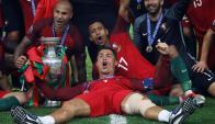 Ronaldo recibirá 300.000 como cada jugador luso. Foto: Reuters
