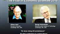 Oliver Hart y Bengt Holmström, ganadores del Nobel de Economía. Foto: AFP.