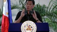 Rodrigo Duterte, presidente de Filipinas. Foto: Reuters.