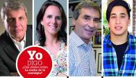 Washington Abdala, Verónica Piñeyrúa, Berch Rupenian y Yao Cabrera.