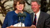 Janet Reno y Bill Clinton. Foto: AFP