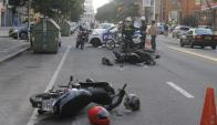 Tres motociclistas fallecieron. Foto: archivo El País