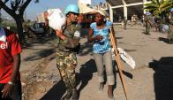 Uruguay está renovando sus tropas en Haití. Foto: AFP