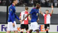 El Feyenoord ganó al Manchester United. Foto: AFP.