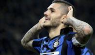 Mauro Icardi, goleador del Inter de Milán. Foto: Reuters.
