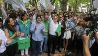 """Novick aseguró que el Partido de la Gente """"es de centro, bien de centro"""". Foto: A. Colmegna"""