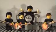 La banda de Liverpool como muñecos Lego. Foto: YouTube