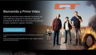 Amazon Prime Video ya está disponible en Uruguay. Foto: Captura web.