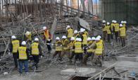 Derrumbe en la planta en China. Foto: Reuters