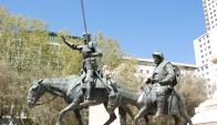 Monumento a Miguel De Cervantes. Foto: Archivo