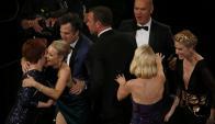 """El elenco de """"Spotlight"""" celebra el reconocimiento. Foto: Reuters"""