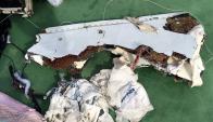 Restos del avión de Egyptair. Foto: Reuters