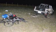Accidente fatal en la ruta 2, kilómetro 215 en Semana Santa, el 5 de abril de 2015. Foto: María del Huerto Ramírez.