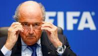 """Especulador. """"Mi misión no ha acabado"""", dijo Blatter al anunciar su nueva candidatura."""