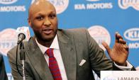 Lamar Odom en la conferencia de presentación con los Clippers en 2012. Foto: Reuters.