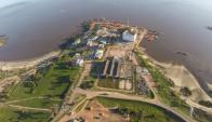 En Punta de Sayago se construye el muelle donde irá el barco. Foto: Gas Sayago