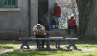 Pacientes de la Colonia Etchepare. Foto: Francisco Flores