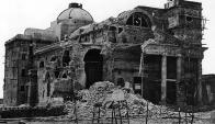Catedral de Paysandú bombardeada por la Armada Brasileña Foto: Archivo El País