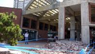Así quedó la terminal de Punta del Este. Foto: Ricardo Figueredo