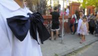 Moña de escolares. Foto: Leonardo Carreño