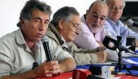 """Con Darío Pérez a la cabeza consideraron """"insuficiente"""" el descuento de OSE. Foto: R. Figueredo"""