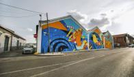 Colorido, uno de los ejemplos de arte urbano en Lisboa. Foto: EFE.