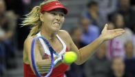 Genial. María Sharapova lideró a Rusia a semifinales. Foto: AFP