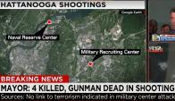 Tiroteo dejó cuatro militares muertos. Foto: CNN