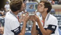 Herbert y Mahut son los nuevos campeones del Us OPen. Foto: Agencia EFE