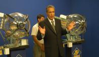 Homero Rodríguez Tabeira condujo el sorteo que tuvo un premio récord de US$ 2.300.000