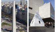 Sorpresa en Buenos Aires por el Obelisco sin su punta. Foto: EFE