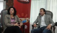 Acuerdo. Mathias (JBS Foods) y Vitabar (Dicasold) anuncian la nueva alianza. (Foto: Francisco Flores)