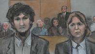 Dzhokhar Tsarnaev permaneció impasible durante toda la audiencia.