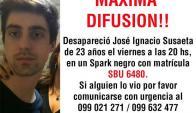 Búsqueda de José Ignacio Susaeta. Foto difundida en Twitter